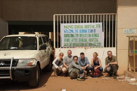 Helfer der Humanitäre Mission in Afrika